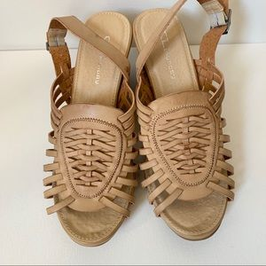 CL by Laundry Strap Wedge Heels Size 9